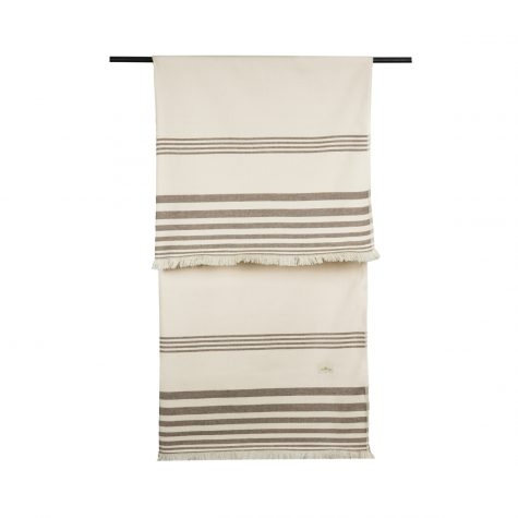 Beach towel with brown stripes
